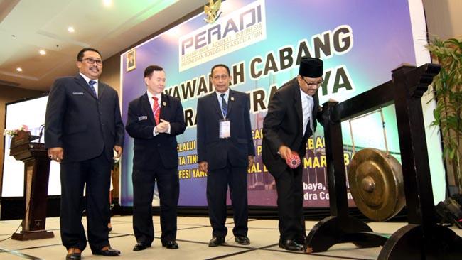 Gus Ipul buka Muscab DPC PERADI Surabaya ke-2 di Dyandra Convention Center