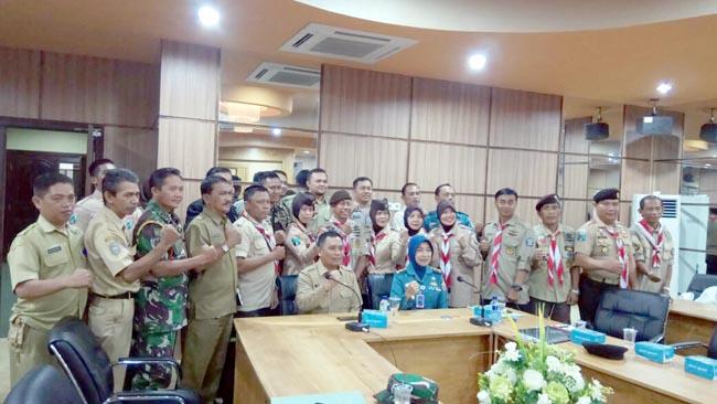 Wabup Situbondo Terima Rombongan Tim Dive Kartini Pramuka Bahari Lantamal V Surabaya