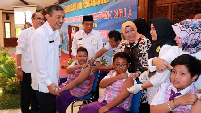 KLB Difteri, Pemkab Lamongan Canangkan Imunisasi Massal
