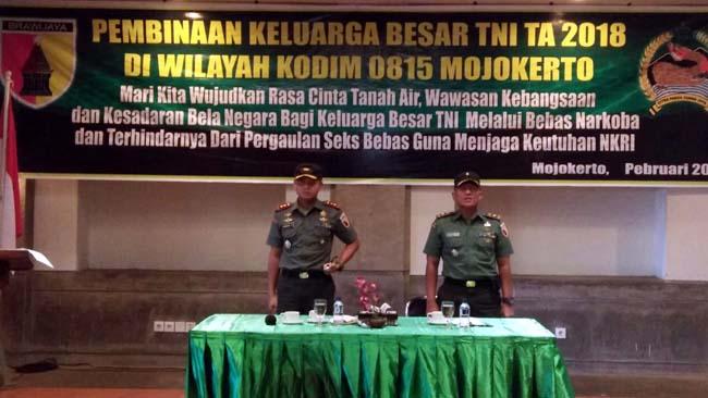 Kodim 0815 Mojokerto Selenggarakan Pembinaan Keluarga Besar TNI
