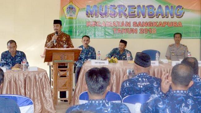 Tingkatkan Potensi Pulau Bawean, Kecamatan Sangkapura Gelar Musrenbang dan RKPD 2019