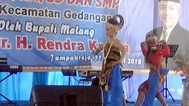 Bupati Malang Puji Kreatifitas SMPN 2 Gedangan, Apresiasi Tari Bambang Cakil