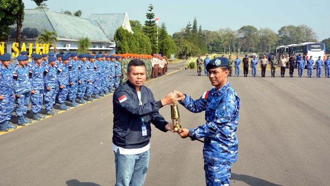 Danrem 083 Hadiri Penjemputan Api Asian Games