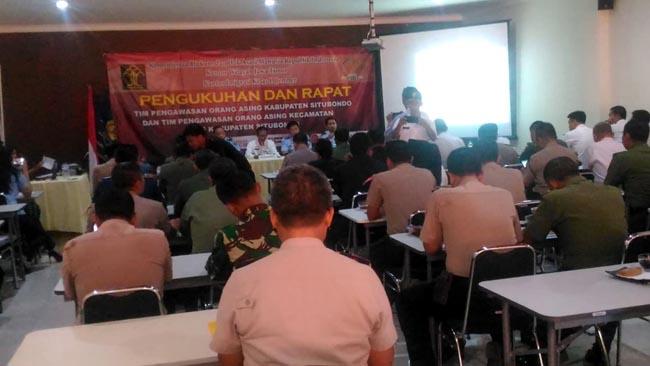 Kanim Jember Gelar Pengukuhan dan Rapat Tim Pengawasan Orang Asing di Situbondo