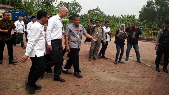 Menlu Belanda Kunjungi Waduk Prijetan di Kecamatan Kedungpring
