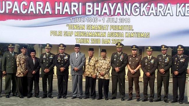 Upacara Puncak Bhayangkara ke-72 di Polres Mojokerto Dihadiri Dandim 0815
