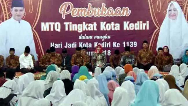 Wawalikota Kediri Buka Lomba MTQ Tingkat Kota Kediri