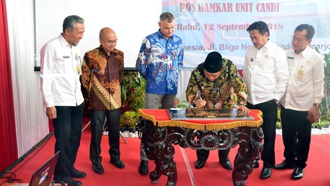 Bupati Sidoarjo Resmikan Pos Damkar CSR Ecco Indonesia