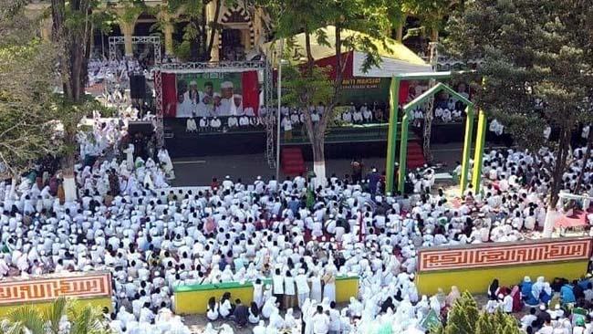 Ribuan Masyarakat Anti Maksiat Dukung Penuh Bupati Lumajang Berantas Tempat Kemaksiatan