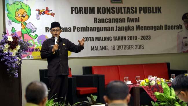 Siapkan RPJMD Kota Malang 2018 – 2023, Gelar Forum Konsultasi Publik