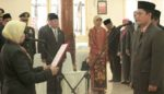 Bupati dr Haryanti Lantik Dede Sujana, Sebagai Sekdakab
