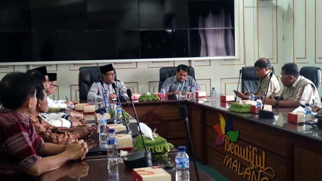 Walikota Malang Gelar Audiensi Dengan FKUB Jelang Perayaan Nataru 2018