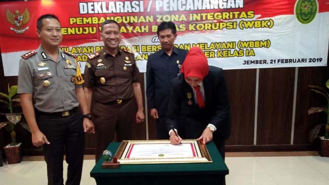 Deklarasi WBK dan WBBM PN Jember Bersama Bupati Jember, Bukan Main-Main