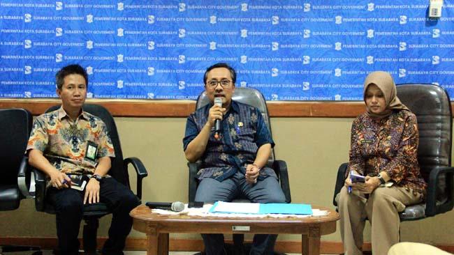 PELAYANAN : Dinas Kependudukan dan Catatan Sipil (Dispendukcapil) Kota Surabaya akan membuka layanan 15,5 jam untuk perekaman e-KTP di siola, Rabu (13/3)