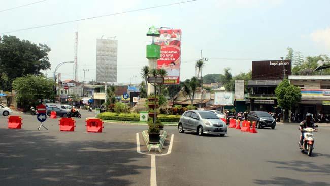 Hari Kedua, Dishub Ubah Jalur Rekayasa Lalin Bundaran Bandung