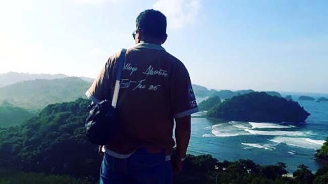 INDAH : Pantai Sendiki salah satu obyek wisata menarik di Malang Selatan. (H Mansyur Usman/Memontum.Com)