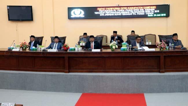 DPRD Sampang Gelar Pemandangan Umum Fraksi Pelaksanaan APBD 2018