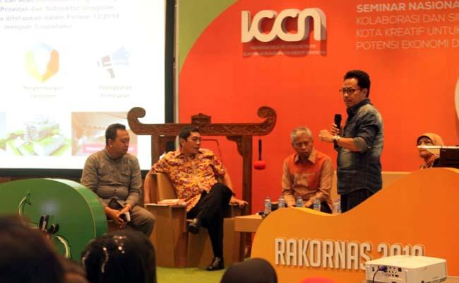 Sutiaji menceritakan perjalanan Kota Malang menjadi Kota Kreatif. (ist)