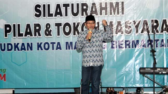 Walikota Hadiri Silaturahmi Tiga Pilar dan Tokoh Masyarakat di Blimbing