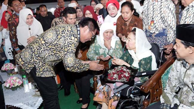 Wakil Walikota Malang Sofyan Edi Jarwoko saat bertemu Hj Sinta Nuriah Wahid. (ist humas Kota Malang)