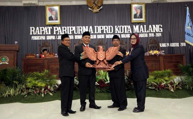 I Made Rian Diana Kartika, menjadi ketua Dewan sementara Kota Malang. (ist)