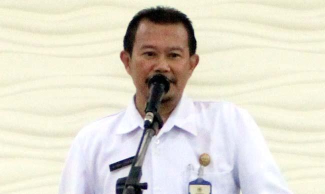 Plt. Kepala BKD Bondowoso, Ahmad Prayitno didampingi sejumlah pejabat utama BKD setempat