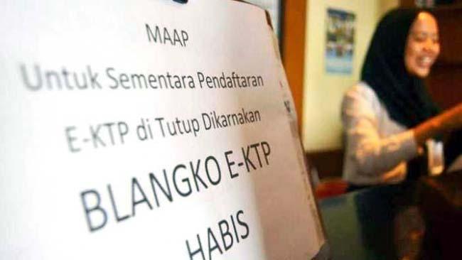 Blangko Habis, Perekaman e-KTP di Kota Malang Dikasih Suket