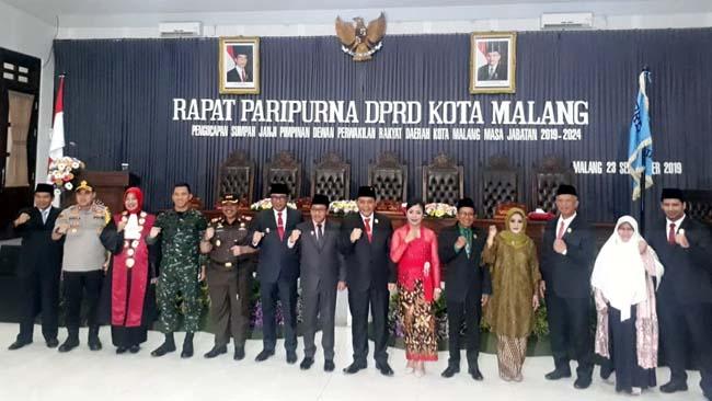 DPRD Kota Malang dan Forkopimda Kota Malang siap bersinergi demi Kota Malang. (gie)