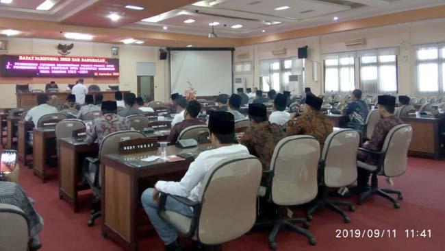 Rapat paripurna perdana DPRD Bangkalan