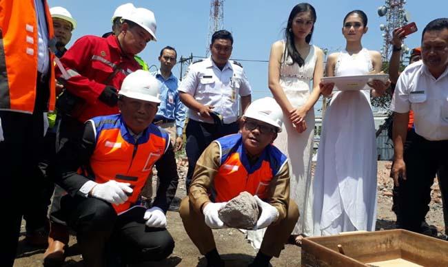 Pengembangan Stasiun Malang Tahap I, Walikota Sutiaji Letakan Batu Pertama