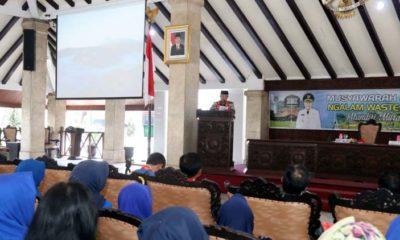 Bupati Malang Drs HM Sanusi MM Beri Sambutan. (Ist)