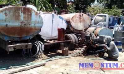 Kondisi truk tangki yang rusak di sumber air Ruberuh I dan II Kecamatan Sampang. (zyn)
